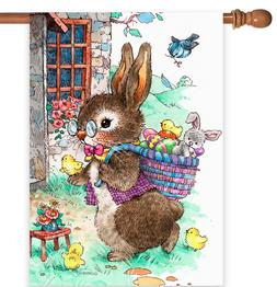 Toland Home Garden 1012287 Vintage Easter Bunny 28 x 40 Inch