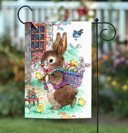 Toland Home Garden 1112287 Vintage Easter Bunny 12.5 x 18 In