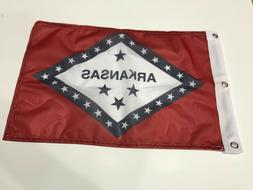 "12x18 12""x18"" State of Arkansas Super Polyester Flag Boat Ca"
