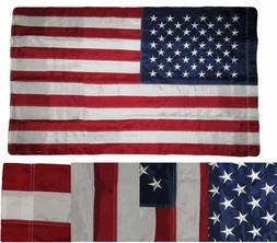 2.5 x 4 Embroidered USA American Pole Sleeve Nylon Flag 2.5'