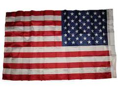 2.5x4 2.5 x 4ft US USA American 50 Star Flag Sleeve & Hem Ba