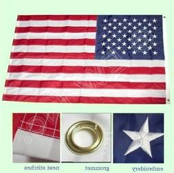 4x6 ft USA American Flag Embroidered Stars Sewn Stripes Grom