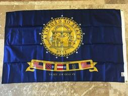 ANNIN FLAGMAKERS 2001 GEORGIA STATE GOVERNMENT ISSUED NYLON