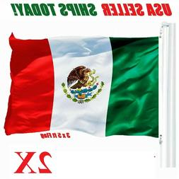 2pcs 3' x 5' ft Polyester Mexican Flag Pennant Bandera New b