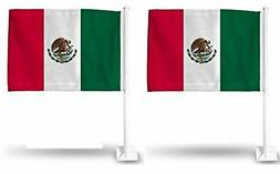 2X MEXICO MEXICAN World Cup Soccer Car Flag FLAGS FOR CAR WI