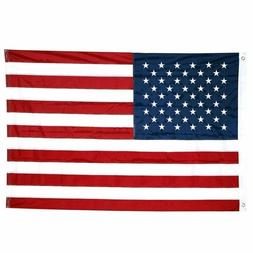 4x6FT USA American Flag Heavy Duty Nylon Embroidered Sewn St