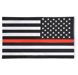 Thin Red Line Flag 3x5 Ft - Fire Fighter Firefighter -Americ