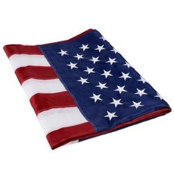3'x5' ft American Flag Sewn Stripes Embroidered Stars Brass