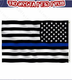 3'x5' Thin Blue Line Police Lives Matter Law Enforcement Ame