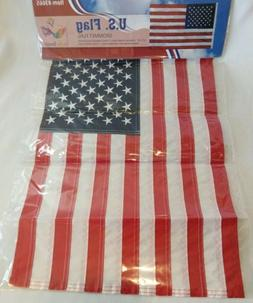 """In the Breeze #3665 12"""" x 18"""" U.S. Flag Gommet Flag, Weather"""