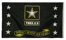 3x5 3'x5' U.S. Army Star Served With Pride Military Flag Ban