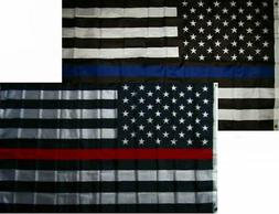 3x5 3'x5' Wholesale Combo Set Police & Fire Department USA M
