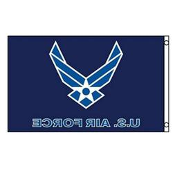 3x5' American US Air Force Flag Wings Logo USAF White on Blu