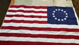 3x5 Embroidered Betsy Ross USA Sewn Cotton Flag Banner - Ann