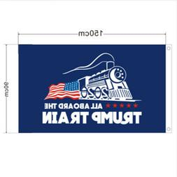 3x5 Ft Donald Trump 2020 All Aboard The Trump Train Presiden