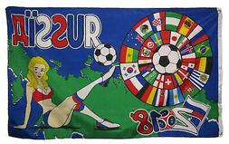 AES 3x5 International World Cup 2018 Russia Soccer Girl Woma