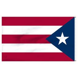 3x5 Puerto Rico Polyester Flag Premium Banner Grommets FAST
