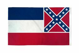 3x5FT Large Mississippi State Flag History Southern Banner M