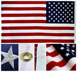 3x5ft US American Flag Heavy Duty Embroidered Stars Sewn Str