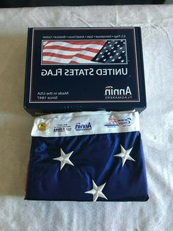 4x6 US Flag Made By Annin Nyl Glo  Made In The USA