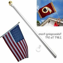 5 ft Sectional Aluminum flagpole US American USA 3x5 Flag Po