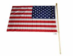 5' FT WOODEN FLAG POLE KIT WITH BRACKET & 3X5 USA AMERICAN F