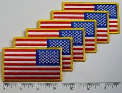 """6-pack: American Flag Embroidered Patch 3.5x2"""" -- Patriotic"""