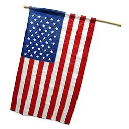 G128 - American USA US Flag 2.5x4 Ft Pole Sleeve Embroidered