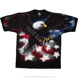 AMERICAN EAGLE-2 sided T-SHIRT-PATRIOTIC-USA FLAG L-XL-XXL-3