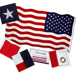 American Flag 3ft x 5ft Valley Forge Koralex II 2-Ply Sewn P