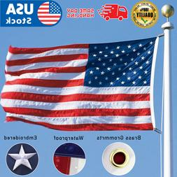 American Flag 5x8 ft 420D Nylon UV Protected Embroidered Sta