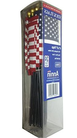 Annin American USA Stick Flags Value Bundle Pack, 4 by 6-Inc