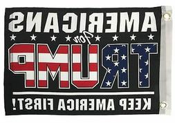 Americans For Trump Boat / Motorcycle Flag Double Sided - NE