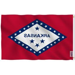 Anley Fly Breeze 3x5 Foot Arkansas State Polyester Flag Arka