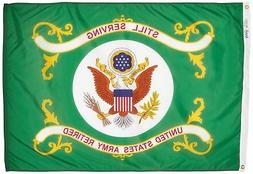 Annin Armed Forces Flag, US Army Retired 3 by 4 Foot