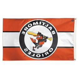 BALTIMORE ORIOLES COOPERSTOWN COLLECTION 3'X5' DELUXE FLAG B