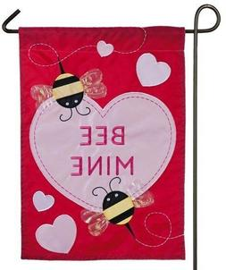 Evergreen Bee Mine Double Sided Applique Valentine's Day Gar