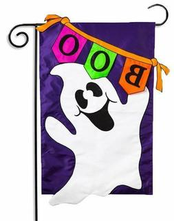 Evergreen Boo Ghost Double Sided Applique Halloween House Fl