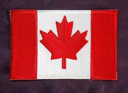 CANADA FLAG PATCH CANADIAN FLAG FRENCH-CANADIAN SEW OR IRON