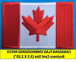 CANADIAN FLAG EMBROIDERED PATCH IRON-ON SEW-ON  CANADA MAPLE
