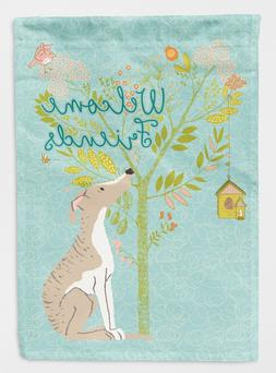 Caroline's Treasures BB7626GF Welcome Friends Whippet Decora