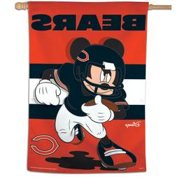 """CHICAGO BEARS MICKEY MOUSE DISNEY 28""""X40"""" BANNER VERTICAL FL"""