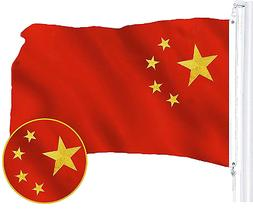 G128 – China  Flag   3x5 feet   Embroidered 210D – Indoo