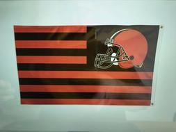 CLEVELAND BROWNS AMERICAN STARS & STRIPS 3'X5' DELUXE FLAG B