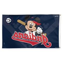 CLEVELAND INDIANS MICKEY MOUSE DISNEY 3'X5' DELUXE FLAG NEW