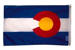 PringCor Colorado Flag 2x3ft Polyester Banner State of CO Ma