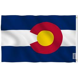 Anley Fly Breeze 3x5 Foot Colorado State Polyester Flag Colo