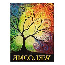 Colorful Rainbow Tree Branch Double Sided Garden Yard Abstra