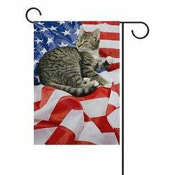 ALAZA Double Sided Independence Day 4th of July American Fla