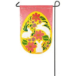 Evergreen Easter Egg Applique Garden Flag, 12.5 x 18 inches